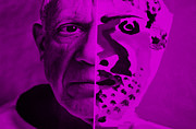 Pablo Picasso Digital Art Prints - Pablo Purple Print by Rob Hans