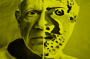 Pablo Picasso Digital Art Prints - Pablo Yellow Print by Rob Hans