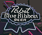 Beer Photo Originals - Pabst Blue Ribbon Beer 2 by Bill Owen