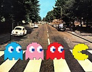 Pac-man Framed Prints - Paccy Road Framed Print by Paul Van Scott