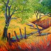 Lanscape Paintings - Pacheco Oak Valley by Stephanie  Maclean