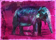 Elephant Digital Art Posters - Pachy-dream Poster by Erika Weber