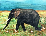 Western Abstract Painting Originals - Pachyderm by Buddy Paul