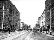 Streetscenes Photos - Pacific Avenue Tacoma 1907 by Harney