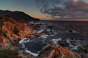 Big Sur California Photos - Pacific Coast Golden Light by Mike Reid