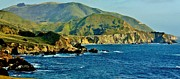 Big Sur Metal Prints - Pacific Coast Panorama Metal Print by Benjamin Yeager
