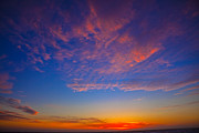 Afterglow Photos - Pacific Coast Sunset by Garry Gay