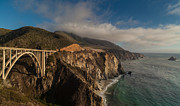 Bixby Bridge Metal Prints - Pacific Coastal Highway Metal Print by Mike Reid
