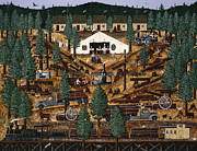 Logging Camp Prints - Pacific Northwest Logging Memories Print by Jennifer Lake