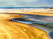 Coastline Mixed Media - Pacific Ocean Beach Santa Barbara by Nadine and Bob Johnston