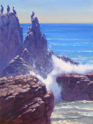 Southern California Paintings - Pacific Power by Elena Roche