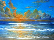 Pacific Reflections Print by Keith Wilkie