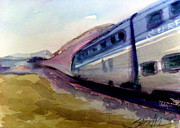 Railroad Paintings - Pacific Surfliner by Sandra Stone