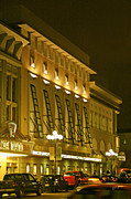 Red And Gold Walls Prints - Pacific Theatres In San Diego At Night Print by Ben and Raisa Gertsberg