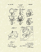 Pacifier Posters - Pacifier 1955 Patent Art Poster by Prior Art Design