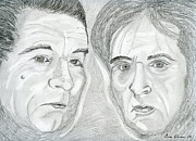 Actors Drawings - Pacino and De Niro by Eva Ason