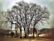 Asheville Digital Art - Pack Sq. in Winter by Mark Block
