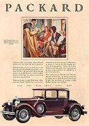 Featured Metal Prints - Packard 1929 1920s Usa Cc Cars Metal Print by The Advertising Archives