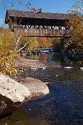 New Hampshire Fall Photos - PACKARD HILL BRIDGE Lebanon New Hampshire by Edward Fielding