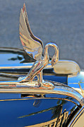 Collector Cars Digital Art Posters - Packard Hood Ornament Poster by Ben and Raisa Gertsberg
