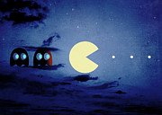 Pacman 2012 By Night Print by Filippo B