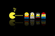 Lego Digital Art - Pacman LEGO by NicoWriter