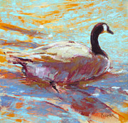 Geese Pastels - Paddle I by Christine Bodnar