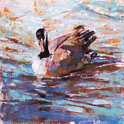 Geese Pastels - Paddle II by Christine Bodnar