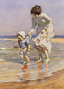 Paddling Print by William Kay Blacklock
