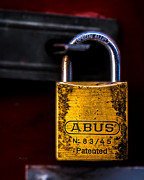Alloy Framed Prints - Padlock Framed Print by Bob Orsillo