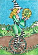 News Drawings - Page of Coins - Good News by Joy Saethre