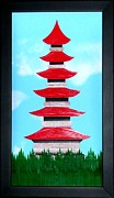 Artisan Made Framed Prints - Pagoda Framed Print by Ron Davidson