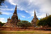 Fototrav Print - Pagodas of Wat Phra Si Sanphet Ayutthaya  Thailand