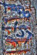 Jim Wright Acrylic Prints - Paint and rust 25 Acrylic Print by Jim Wright