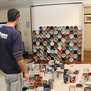 All - Paint Can Accent Wall by Benjamin Bullins