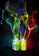 Paint Splash Photos - Paint Dancers by Regina  Williams 