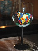 Paint Glass Art - Paint Horse by Jayne Strahm