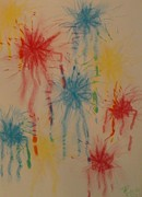 Burst Drawings Posters - Paint My Masterpiece Poster by Thomasina Durkay