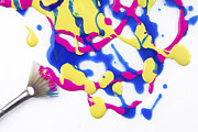 Color  Colorful Prints - Paint Splatter Print by Diane Diederich