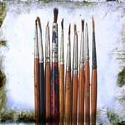 Bristle Prints - Paintbrushes Print by Bernard Jaubert