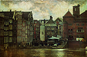 History Channel Framed Prints - Painted Amsterdam Framed Print by Jenny Rainbow
