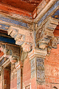 Supports Framed Prints - Painted Architectuial Ceiling Supports Framed Print by Linda Phelps