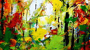 Nature Scene Mixed Media Prints - Painted Autumn Print by Kume Bryant