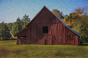 Barn Digital Art Prints - Painted Barn 3 Print by Greg Sharpe