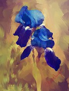 Thomas Churchwell - Painted Blue Irises