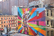 Kobra Framed Prints - Painted Building NYC Framed Print by Dan Stumpf