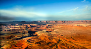 Canyonland Framed Prints - Painted Canyonland Framed Print by Robert Bales