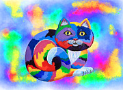 Painted Paintings - Painted Cat by Nick Gustafson