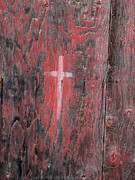 Marie-Pierre Sabga - Painted cross on old door