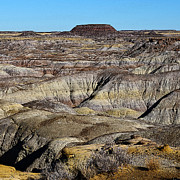Beauty In Nature Art - Painted Desert in Petrified Forest National Park Poster Edges Square by Shawn OBrien